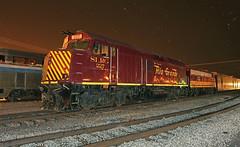 Night on the SLRG (GLC 392) Tags: san luis rio grande railroad railway train scenic alamosa night time emd f40ph slug fp10 1100 227 slrg colorado co iowa pacific