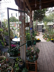 on the porch (claudia.joseph16) Tags: outdoor graden porch art glass plants