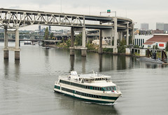 The Cruise Ship Portland Spirit on the Willamette River in Portland, OR (scattered1) Tags: marquam marquambridge or oregon portland portlandspirit river spirit ussblueback willamette willametteriver boat bridge cruise cruiseship passenger sail ship submarine water yacht