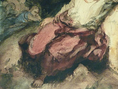 DELACROIX Eugène,1826 - Le Christ au Jardin des Oliviers, Eglise St-Paul-St-Louis, Paris, Etude (drawing, dessin, disegno-Louvre RF23325) - Detail 49 (L'art au présent) Tags: drawing dessins dessin disegno personnage figure figures people personnes art painter peintre details détail détails detalles 19th 19e dessins19e 19thcenturydrawing 19thcentury detailsofdrawing detailsofdrawingdessins croquis étude study sketch sketches tableaux louvre museum eugènedelacroix eugène delacroix france lechristaujardindesoliviers christinthegardenofgethsemane gardenofgethsemane christ jardindesoliviers aquarelle watercour watercolor man men homme romantic romantique romantisme romanticism romance armes weapons soldats soldiers rocher rock nuit night ombre shaddow paris
