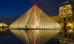 Pyramidal (Falcon_33) Tags: architecture sony raw falcon®photography french français bluehour blueandyellow longtimeexposure lelouvre paris idf sonyrx100 carlzeiss