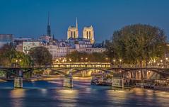 Heart of Paris (aurlien.leroch) Tags: france paris cathédrale notredame hdr bluehour seine longexposure nikon d7100 pontdesarts