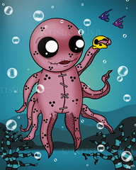 Unlucktapus (BitStrange) Tags: unluckables luckycharm monster monsterart creature creatureart octopus seacreature sea skull fish lowbrow lowbrowart bigeyes bigeyedart bigeyeart digitalpainting digitalart digital art painting creepycute creepycuteart