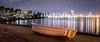 Lonely Boat (moreno1024) Tags: sandiego sandiegobay downtownsandiego panorama panoramic pano longexposure night