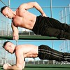 Winter ab workout (ddman_70) Tags: shirtless abs planks workout outdoors sweatpants pecs