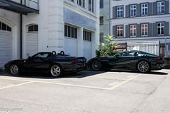 Sick Ferrari Duo (aguswiss1) Tags: ferrarif12tdf550barchetta ferrari f12 f12tdf tourdefrance v12 550 brachetta supercar hypercar sportscar dreamcar millionaire millioncar fastcar racer cruiser roadster spyder bluecar greencar worldcars
