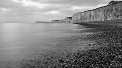 All kinds of weather, we stick together (OR_U) Tags: 2017 oru uk eastsussex sevensisters birlinggap birlinggapandthesevensiste 169 widescreen monochrome bw blackandwhite blackwhite schwarzweiss le longexposure cliffs beach sea ocean water bettemidler birlinggapandthesevensisters