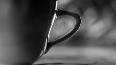 TEA or COFFEE ? (ericbeaume) Tags: teaorcoffee nikon d5500 50mm 18g tea coffee cup noirblanc noiretblanc monochrome closeup closer bokeh ericbeaume