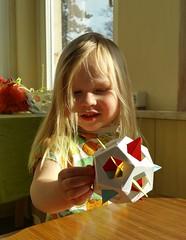 Mom has made a new toy! (Aneta_a) Tags: origami modularorigami polyhedron planar icosahedralsymmetry octahedralsymmetry simplepaper jamesplank tungkenlam