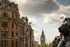 Oh so very British! (leecaine) Tags: city uk england london english history clock jack big ben flag union lion lions british