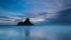 Panatahi Island, Karekare Beach (Winston Tan Photography) Tags: longexposure newzealand seascape beach clouds sigma explore auckland waitakereranges karekarebeach leefilter panatahiisland canoneos70d canon70d leebigstopper sigma1835mmf18