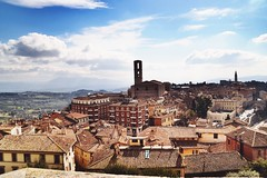 Perugia (Chiara Francesconi) Tags: life old city italien blue trees houses windows light shadow red sky urban italy orange cloud white house mountain snow mountains tree green tower church window nature yellow architecture clouds landscape town photo haze nikon europa europe italia cityscape nuvola shadows angle horizon hill wide hills capitol filter cielo hazy ph perugia assisi paesaggio umbria cpl polarization umbrien allaperto dcdead d3100