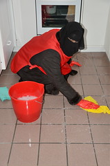 Slave cleaning maid (Warm Clothes Fetish) Tags: girl warm coat cleaning apron niqab maid slave burka chador