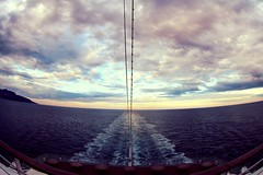 Schiffsheck_ship's stern (blubidiblubb) Tags: sea fish eye clouds boat los meer mediterranean ship ships himmel fisheye stern schiff fore aida heck aft mittelmeer ozean leinen schiffsheck
