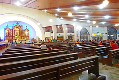 Philippines, Davao, San Pedro Cathedral interior  #PhiΙippines (bilwander) Tags: travel church san cathedral philippines pedro solo davao bilwander phiιippines