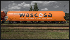 "Eyecatcher ("" Wiener Schule "") Tags: eisenbahn railcar hopper waggon freightcar güterwagen wascosa tagnpps getreidewagen"