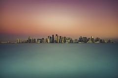 Doha's Skyline (IzTheViz) Tags: doha qatar sunrise skyline minimalism cityscape wow variotessartfe41635