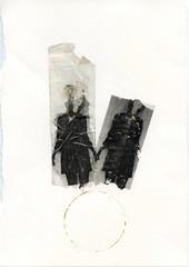 ({anna malina}) Tags: art mixedmedia stickytape laserprint gold selfportrait circles bulbs acrylic 2014