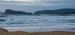 Seascape Sunrise (Merrillie) Tags: uminabeach sand sunrise nature australia mountains nswcentralcoast newsouthwales sea nsw waves beach clouds centralcoastnsw umina seascape photography water oceanbeach waterscape dawn landscape sky outdoors