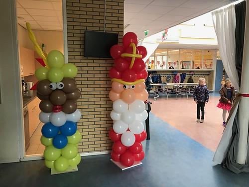 Ballonpilaar Sint en Piet KBS De Wegwijzer Spijkenisse