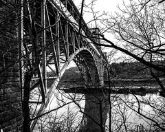Round Wales Walk 67 - Britannia Bridge (Nikki & Tom) Tags: roundwaleswalk walescoastpath wales uk britain gwynedd bridge menaistraits anglesey britanniabridge blackwhite arches
