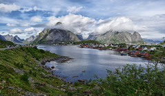 Beautiful Reine (marko.erman) Tags: reine lofoten norway moskenesøya sony island archipelo landscape mountains sea clouds panorama nature travel popular pov outside rocks slopes beauty beautiful serene serenity quiet codfish