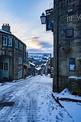 Main Street, Haworth (jackharrybill) Tags: haworth snow mainst