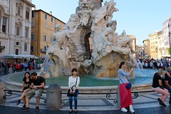 Piazza Navona #2 (A. Nothstine) Tags: rome italy urban city autumn sun day fountain water tourists bernini architecture