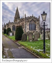 St Peter's, Hope, Derbyshire (Paul Simpson Photography) Tags: hope hopevalley villagechurch religion church tower lamp imageof imagesof photosof photoof paulsimpsonphotography lgg3 mobilephoneimage cellphonephotography android derbyshire peakdistrict snow weather january2017 churchphotography religious headstones graves grass winterweather history historic building path pathway flagpole photosofderbyshire peakdistrictphotography photofromthepeakdistrict england churchspire