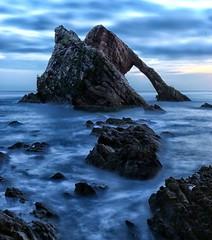 Bow Fiddle Rock (PeskyMesky) Tags: aberdeenshire bokeh rock water sea longexposure le landscape scotland flickr