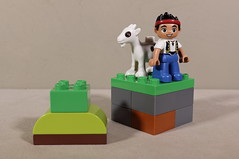 The relationship  between a boy and his goat is often symbiotic (N.the.Kudzu) Tags: home toys lego duplo boy goat canonsl1