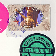 Chile 2 (postcardlady1) Tags: briefmarke stamp
