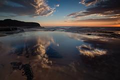 Turi reflection (RoosterMan64) Tags: australia beach clouds landscape longexposure nsw northernbeaches seascape sunrise turimettabeach