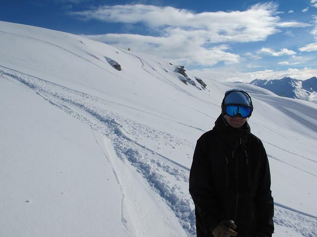 Mark skiing Big Skite - - Treble Cone, Wanaka NZ (16.9.2014)