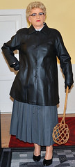 Ingrid019616 (ingrid_bach61) Tags: skirt mature button femdom pleated governess faltenrock durchgeknpft