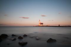 Paard van Marken (30 sec exposure) (PaulHoo) Tags: longexposure sea lighthouse lake holland water netherlands dutch architecture landscape evening nikon rocks silk le liquid marken ijsselmeer lightroom 2015 d700
