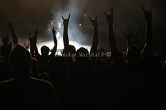 Mayhem Fans- (B. Marshall) Tags: usa fire colorado performing denver co redrocks fans slayer morrison 2015 reigninblood kerryking tomaraya redrocksamphitheatre mayhemfestival garyholt rockstarmayhem