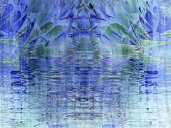Rainy Day Blues (Elisafox22) Tags: blue abstract photomanipulation photoshop reflections colours patterns textures challenge photomanipulated postprocessing ipad kreativepeople elisafox22 elisaliddell©2015 treatthis88
