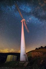Wind energy... (DABMARCO www.marcodabbruzzi.com) Tags: sky italy night way stars energy nightscape wind 16mm milky turbine abruzzo d800e