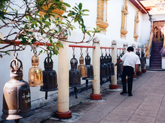 Chiang Mai Doi Suthep bells (Jae at Wits End) Tags: building metal bells thailand religious temple gold worship colorful bell decorative row structure line musical instrument sacred ornate wat