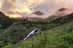 Stormy Sunset in Yankee Boy Basin (Liz Reed Photography) Tags: boy mountains waterfall san colorado juan basin yankee ouray