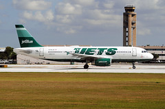 New York Jets Jet (Infinity & Beyond Photography) Tags: new york plane airplane football airport fort aircraft jets nfl lauderdale fortlauderdale airbus jetblue ft ftlauderdale airliner controltower a320 fll kfll n746jb