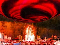 "Sur-13w - They're coming ... (1% busy; 99% lazy ...) Tags: red art surrealism digitalart aliens artdigital shockofthenew awardtree ""exoticimage"" netartii"