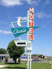 Oasis Motel, route 66 in Tulsa, Oklahoma (Nurse Kitty Qat) Tags: route66 neon motel oasis arrow