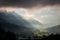Morning has broken in Klosters (hinnerkweiler) Tags: morning mountains alps fog clouds dawn schweiz europa himmel wolken berge alpine alpen dust sonne sonnenaufgang lightrays morgensonne gebirge umwelt klosters geographie graubnden morgenlicht morgenstimmung lichtstrahlen naturlandschaft klosters2015