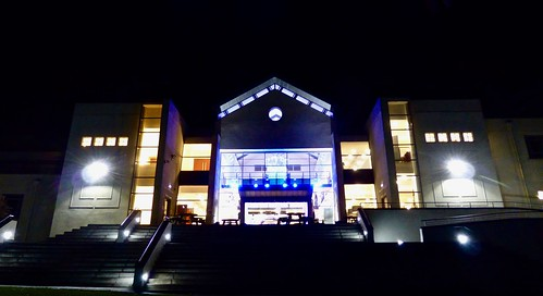 Malvern Theatres at night