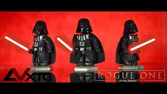 Darth Vader - Star Wars Rogue One (AndrewVxtc) Tags: lego star wars custom rogue one darth vader minifigure andrewvxtc