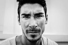 Face man (silvestroantonella) Tags: d550 canon photoshop ligthroom trait dur fort blackandwhite homme brussels expression nomodèle portrait face man