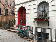 Fences and Bikes (Leticia Roncero) Tags: fence bike brooklyn ny nyc newyork house