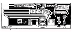 The Barnacle Twin - Comic Strip 0058A (Brechtbug) Tags: the barnacle twin presents a brecht newspaper cartoon without paper comic comics theater theaters theatre movie film movies films new york city brechtbug gadfly nyc 2016 comix cartoons cinema halloween holiday funnies news urban pen ink strip escalator president elect donald trump vice politics